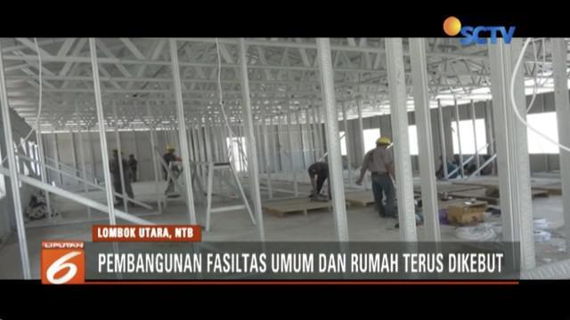 Kementerian PUPR kebut pembangunan rumah tahan gempa untuk warga Pulau Lombok.