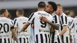 Juventus sebenarnya memulai pertandingan dengan baik. Si Nyonya Tua mampu unggul lebih dulu melalui Alvaro Morata pada menit ke-10. (Foto:AP/Alessandro Garofalo)