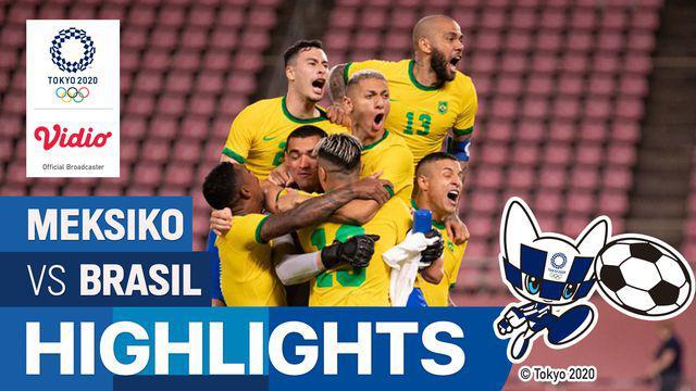 Berita video highlights laga semifinal sepak bola putra Olimpiade Tokyo 2020 antara Timnas Meksiko melawan Timnas Brasil yang berakhir dengan dramatis, Selasa (3/8/2021) sore hari WIB.