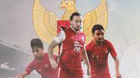 Timnas Indonesia - Osvaldo Haay, Marc Klok, Asnawi Mangkualam (Bola.com/Adreanus Titus)