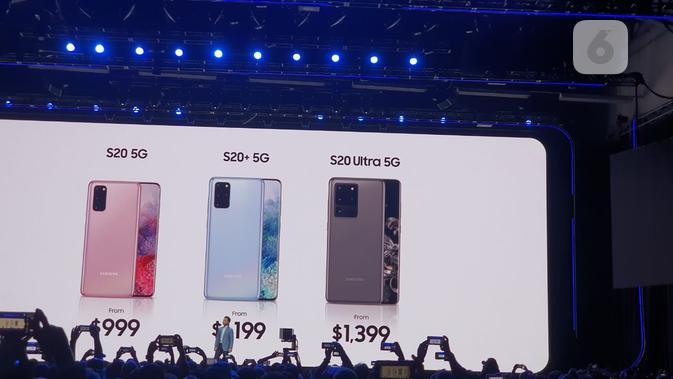 Harga Galaxy S20. (Liputan6.com/ Agustin Setyo Wardani)