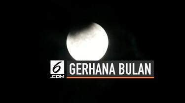 Gerhana bulan sebagian tidak hanya terlihat di Indonesia, tapi juga di India. Berikut penampakan gerhana bulan yang terlihat dari India.