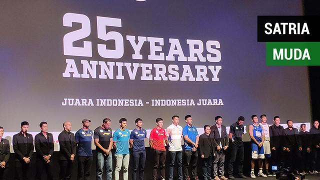 Berita video acara ulang tahun klub basket, Satria Muda, ke-25 dan pemutaran film dokumenter tentang tim dengan tradisi juara tersebut.