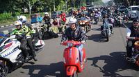 Ratusan bikers mengikuti Sunday morning ride (Sunmori) sembari mengkampanyekan road safety. (Istimewa)