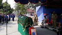 Haerudin, petugas Damkar Jakarta Utara meregang nyawa di RSUD Koja. (Liputan6.com/Moch Harun Syah)