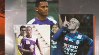 Liga 1 - Cristian Carrasco, Marcio Souza, Cristian Gonzales (Bola.com/Adreanus Titus)