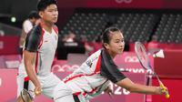 This result made the struggle of Praveen Jordan / Melati Daeva Oktavianti at the Tokyo 2020 Olympics in mixed doubles badminton to be stopped in the quarter-finals.  (Photo: AP/Dita Alangkara)