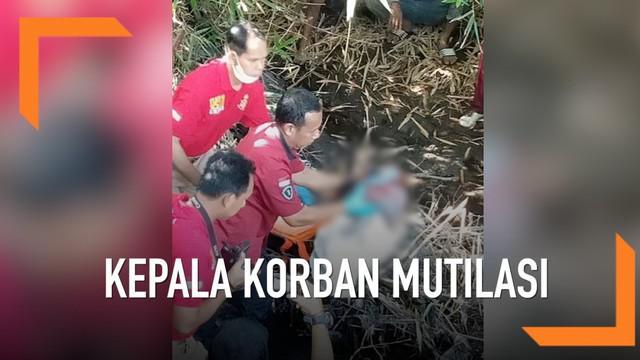 Kepala korban mutilasi dalam koper akhirnya ditemukan pada sebuah sungai di Kediri.