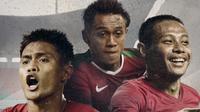 Fachrudin Aryanto, Febri Haryadi dan Evan Dimas. (Bola.com/Dody Iryawan)