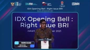 BEI: Rights Issue BRI Catat Sejarah Baru di Pasar Modal RI