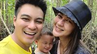 Baim Wong, Kiano Tiger Wong, dan Paula Verhoeven. (Foto: Instagram @baimwong)