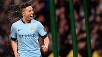 Gelandang Manchester City asal Prancis, Samir Nasri. (AFP/Oli Scarff)