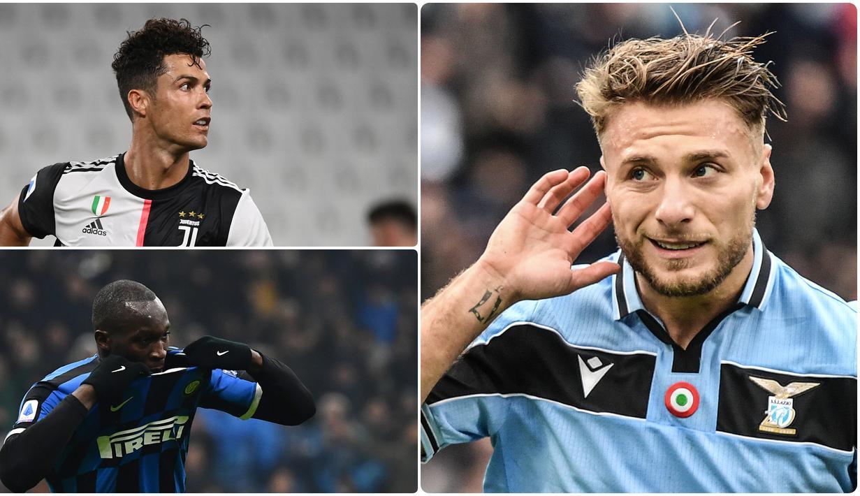 Penyerang Lazio, Ciro Immobile, kembali mengungguli Cristiano Ronaldo dalam persaingan menjadi top skor Serie A Liga Italia. Berikut daftar top skor sementara Serie A musim 2019-2020 hingga pekan ke-35.