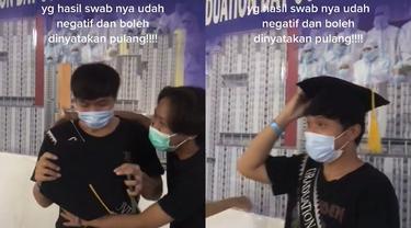 Tradisi kelulusan pasien COVID-19 sembuh dari Wisma Atlet, Kemayoran