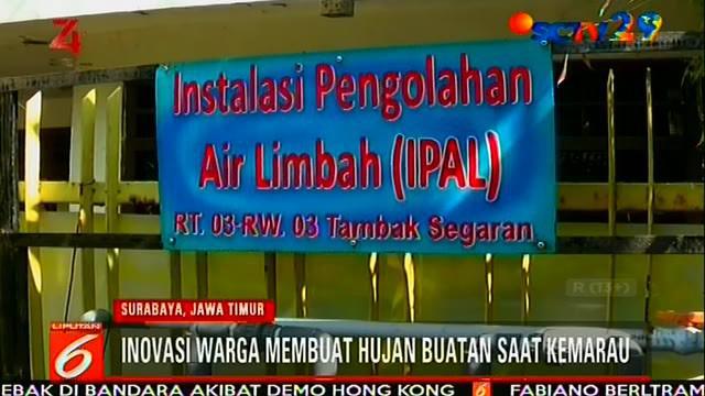 Inovasi tiada henti dilakukan oleh warga Kampung Tambak Segaran RT 3 / RW 3, IV, Tambak Rejo, Simokerto, Surabaya. Air selokan yang umumnya terbuang begitu saja, di kampung ini bisa dimanfaatkan kembali.