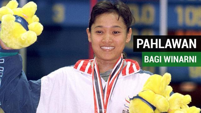 Berita video tentang Winarni, salah satu pahlawan Indonesia di Olimpiade Sydney 2000, yang membutuhkan bantuan untuk anaknya yang sakit.