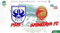 Liga 1 2018 PSIS Semarang Vs Sriwijaya FC (Bola.com/Adreanus Titus)