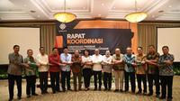 Rapat Koordinasi dan Sinkronisasi Program Ketenagakerjaan Tahun 2020 dengan tema Membangun Sinergitas Ekosistem Ketenagakerjaan di Tangerang, Banten, Kamis (17/10).
