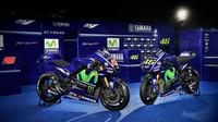 Movistar Yamaha resmi memperkenalkan YZR-M1 baru untuk musim balap 2017 di Madrid, Spanyol, Kamis (19/1/2017) kemarin (Foto: sportrider.com).