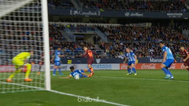 Philippe Coutinho mencetak gol dengan backheel saat Barcelona hadapi Malaga. This video is presented by Ballball.