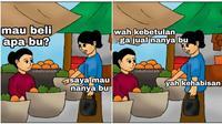 Meme percakapan orang belanja (Sumber: Instagram/duhreceh)