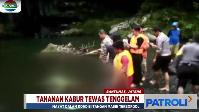 Kondisi jasad dengan tangan kiri yang masih terborgol ini pertama kali ditemukan warga yang sedang memancing.