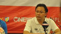 Pelatih timnas Malaysia, Ong Kim Swee, tidak menanggap Indonesia mengalami penurunan meski vakum lebih dari setahun. (Bola.com/Romi Syahputra)