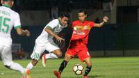 Uji coba Persiba Bantul vs Timnas Indonesia U-19 di Stadion Sultan Agung, Bantul, Rabu (27/6/2018). (Bola.com/Ronald Seger Prabowo)