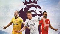 Premier League - Harry Kane, Kevin De Bruyne, Mohamed Salah (Bola.com/Adreanus Titus)