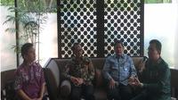 Ricky Darmika Putra, Chairman Bali Hotel Association; Juda Agung, Executive Director IMF Regional ASEAN; Causa Iman Karana, Kepala Kantor Perwakilan BI Prov. Bali; Peter Jacobs, Ketua Unit Kerja Pertemuan Tahunan IMF - WB 2018 (Foto: Liputan6.com/Vina M)