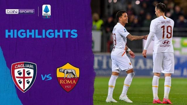 Berita Video Highlights Serie A, AS Roma Kalahkan Cagliari 4-3