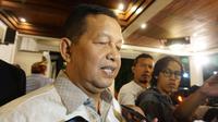 Ketua KEIN, Soetrisno Bachir saat menghadiri acara tasyakuran kemenganan Jokowi-Amin di Solo, Sabtu mala (25/5).(Liputan6.com/Fajar Abrori)