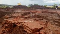 Ekskavasi Situs Sekaran peninggalan pra-Majapahit di proyek Tol Malang - Pandaan telah selesai (Liputan6.com/Zainul Arifin)