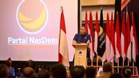 Wakil Ketua Umum Partai Nasdem Ahmad Ali saat memberikan pengarahan kepada para kadernya. (Istimewa)
