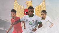 Timnas Indonesia - Andik Vermansah, Manahati Lestusen, Evan Dimas (Bola.com/Adreanus Titus)
