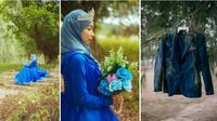 Momen pilu wanita prewedding sendirian usai calon suami kepincut mantan. (Sumber: Facebook/ Bro Sayap)