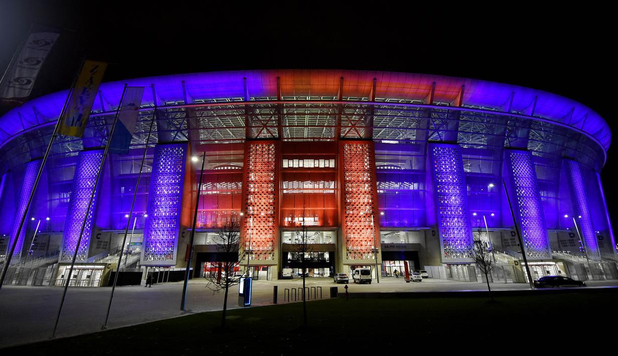 Puskas Arena di Budapest, Hungaria, akan menjadi stadion penyelenggara Piala Eropa 2020. (AFP/Attila Kisbenedek)