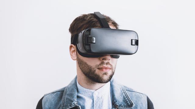 Ilustrasi VR, Virtual Reality, VR Headset, Virtual Reality Headset
