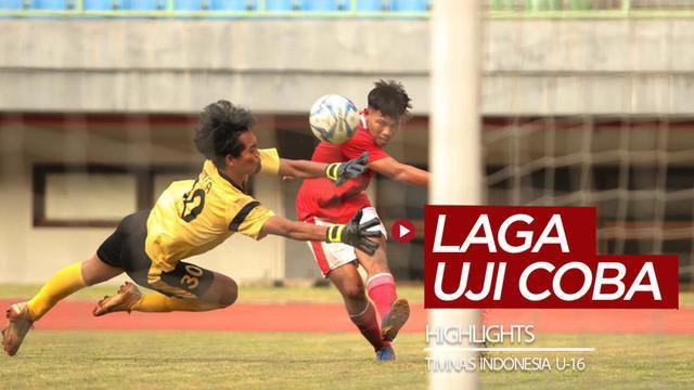 Berita video highlights 2 uji coba Timnas Indonesia U-16 di Stadion Patriot Candrabhaga, Bekasi, pada 24 dan 28 Juli 2020.