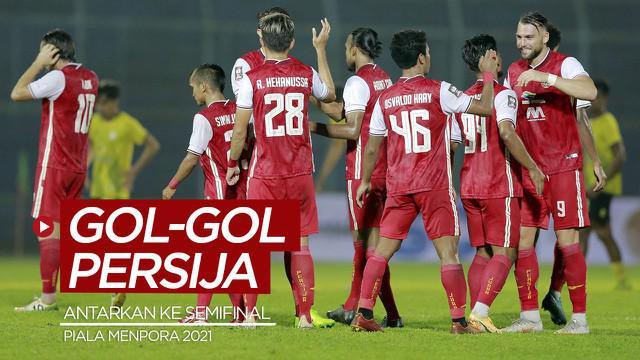 Berita video gol-gol yang mengantarkan Persija Jakarta ke semifinal Piala Menpora 2021.