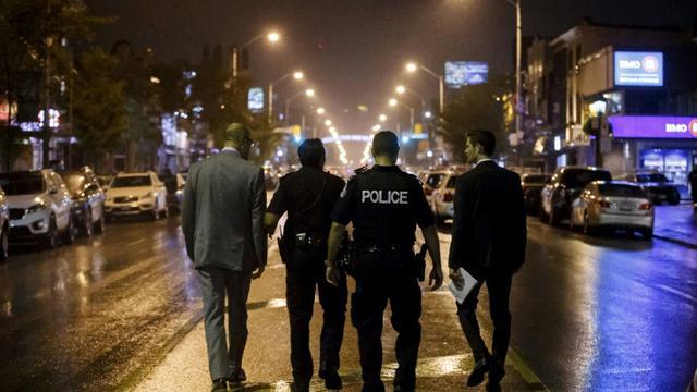 Lokasi penembakan Distrik Greektown di Toronto, Kanada. (AFP)