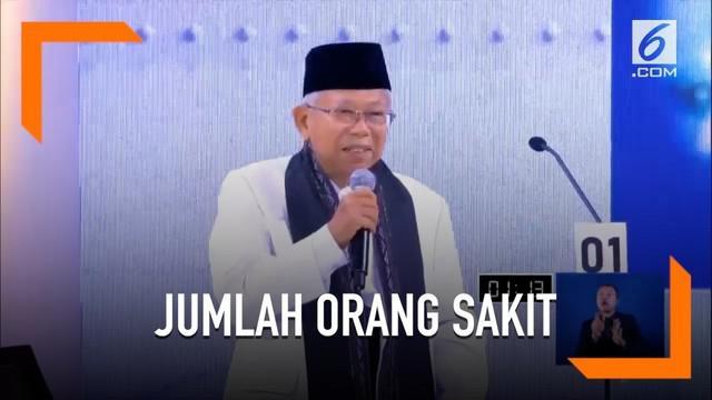 Program-program dari Jokowi-Ma'ruf disebut akan membuat jumlah orang sakit akan berkurang.