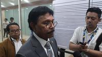 Menteri Komunikasi dan Informatika, Johnny G. Plate, saat rapat kerja dengan Komisi I di MPR/DPR. (Liputan6.com/ Agustinus Mario Damar)