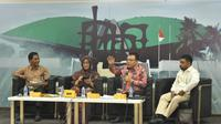 Dialog Empat Pilar MPR dengan tema Praktik Politik Kebangsaan di Media Center, Gedung Nusantara III, Kompleks Parlemen, Jakarta, Jumat (25/10).
