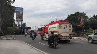 Kondisi terkini Kota Pekanbaru setelah bebas kabut asap karena instensitas hujan yang mengurangi titik panas. (Liputan6.com/M Syukur)