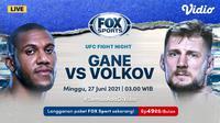 Live Streaming UFC Fight di FOX Sports Eksklusif Melalui Vidio Minggu 27 Juni 2021. (Sumber : dok. vidio.com)
