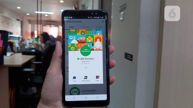 Line hadirkan fitur Line Ramadan untuk menemani Ramadan pengguna (Liputan6.com/ Agustin Setyo W)