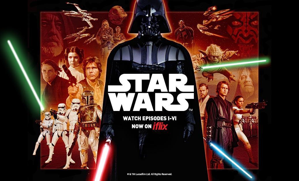 Pengguna iflix di Indonesia dapat merasakan kedahsyatan Star Wars. (Via iflix)