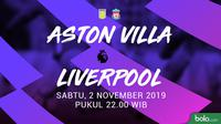 Premier League - Aston Villa Vs Liverpool (Bola.com/Adreanus Titus)