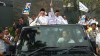 Cagub Sumsel Herman Deru berjanji akan mendukung pemekaran Kabupaten Lahat jadi Daerah Otonomi Baru (Liputan6.com / Nefri Inge)